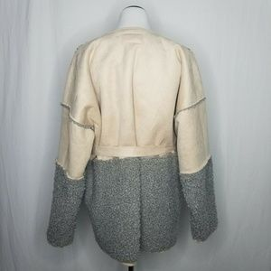 Lucky Brand Jackets & Coats - Lucky Brand Mixed Faux Shearling Suede Jacket